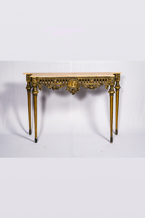 Console Table With Carrera Marble Top