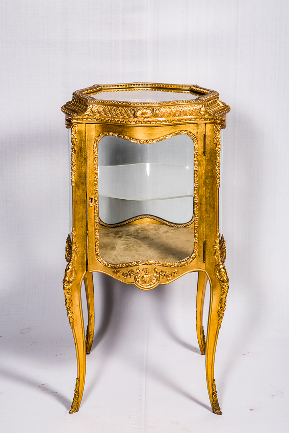 French Lious XV Style Vitrine Center Table